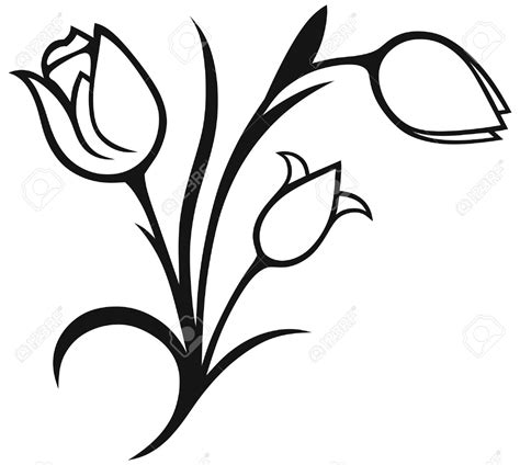 tulip clipart black and white tulip clipart black and white 7 clipart station