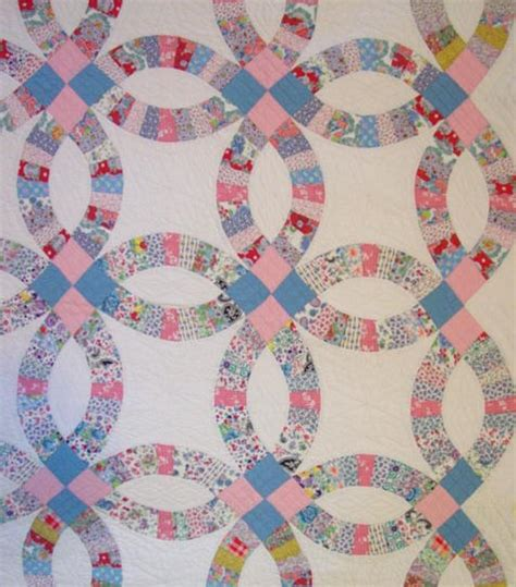 wedding ring quilt pattern wedding ring quilt with outer border sold