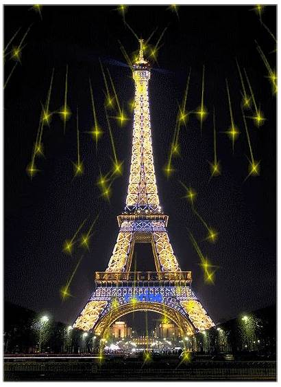 Eiffel Tower Paris France Gifs Night Tour