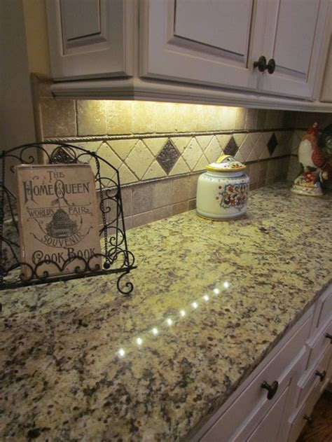 Giallo Napoli Granite White Cabinets Backsplash Ideas