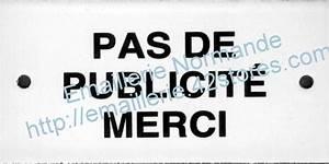 Pas De Pub Merci : pas de publicite plaque maill e pour boite lettres ~ Dailycaller-alerts.com Idées de Décoration