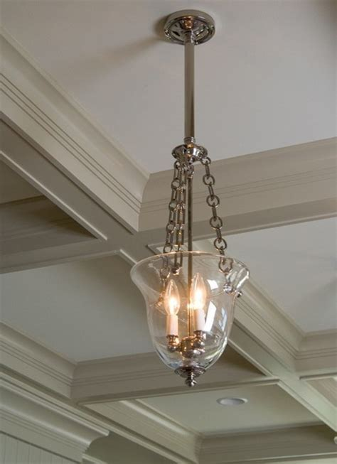 bell jar light fixture up traditional ceiling