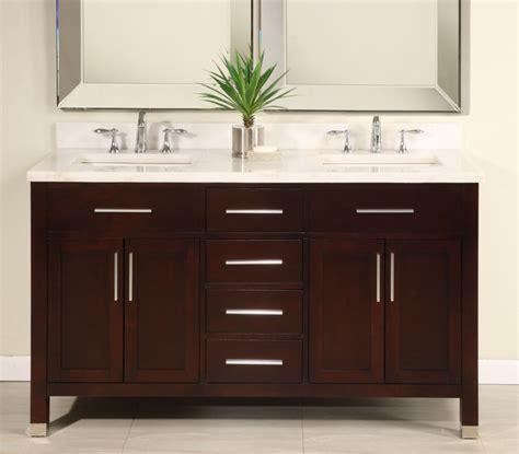 double sink modern dark cherry bathroom vanity