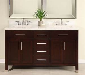 60 Inch Double Sink Modern Dark Cherry Bathroom Vanity