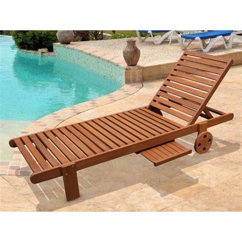 chaise longue bois exotique bain de soleil en bois exotique avec achat