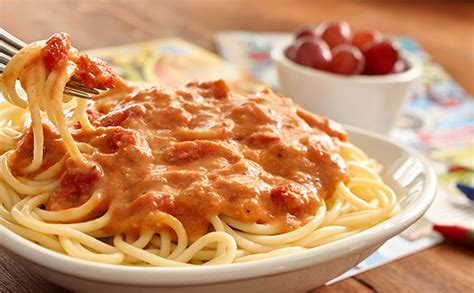 olive garden spaghetti five cheese marinara with choice of pasta lunch dinner