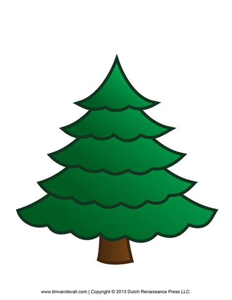 plain christmas tree clipart best