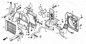 Honda Atv 1989 Oem Parts Diagram For Radiator