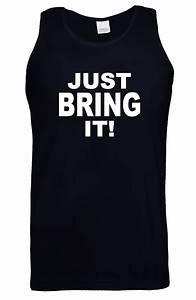 JUST BRING IT! The ROCK Mens Vest WWE WWF Tee WRESTLING ...