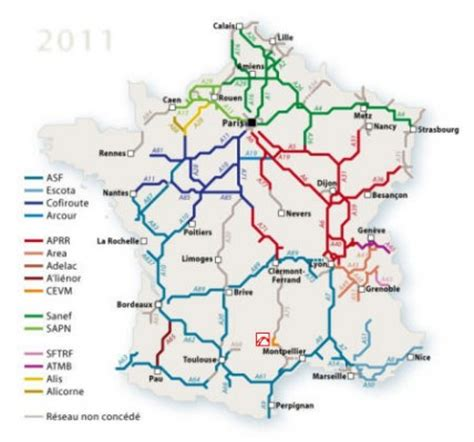 Carte Des Autoroutes Du Centre De La by Franse Tol Fors Duurder Ttm Nl
