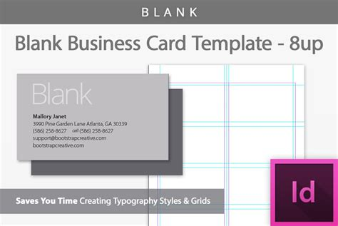 blank business card template 8 up business card templates creative market