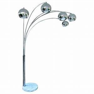 Italian 5 arm chrome arc floor lamp at 1stdibs for 5 arm chrome floor lamp