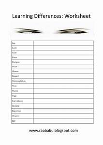 Learn English  Learning Differences   Worksheet