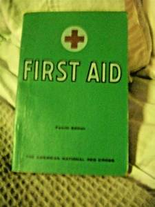 Vtg Red Cross First Aid Manual 1965 Guide Book 4th Ed