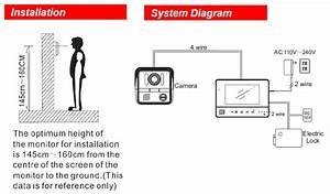 7 U0026quot  Lcd Honeywell Monitor Color Video Door Phone Doorbell