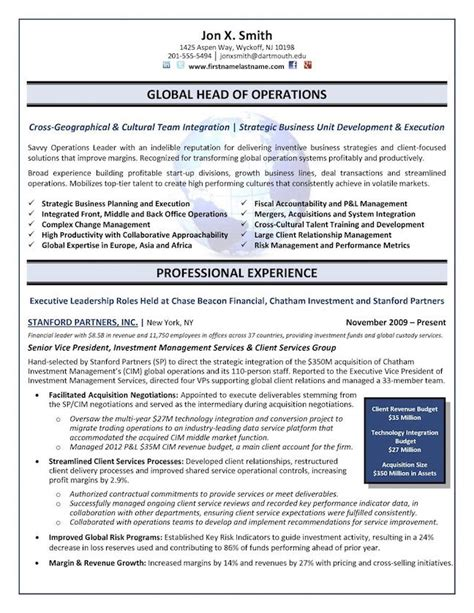 Executive Resume Template by The Top 4 Executive Resume Exles Written By A