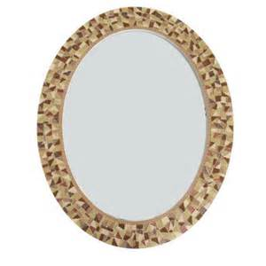 brown wall mirror oval mosaic mirror from green street