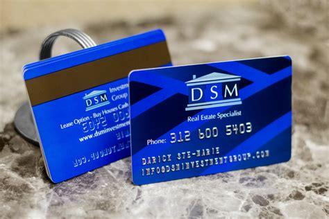 embossed business cards plastic printers