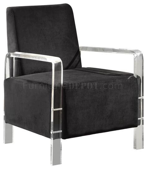 liam 503 accent chair in black velvet fabric