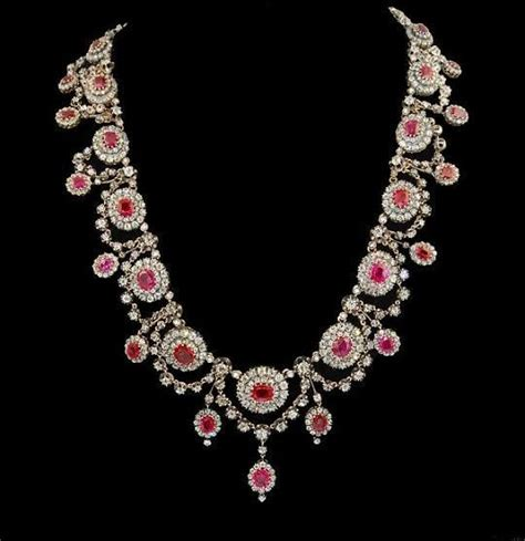 Victorian Ruby and Diamond Necklace