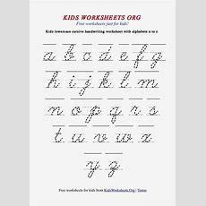 Cursive Handwriting Printables  Hand Writing