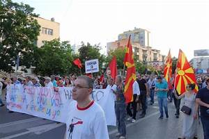 Protesting the government in Macedonia with flying paint ...