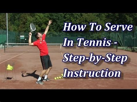 How To Serve In Tennis In 7 Steps Youtube