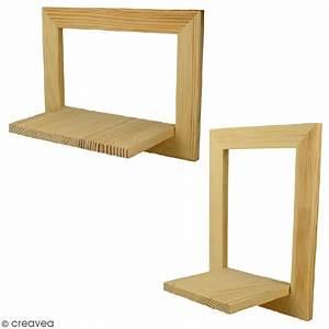 Etagere Cadre Photo : cadre tag re en bois 20 x 15 x 10 cm 2 pcs cadre ~ Teatrodelosmanantiales.com Idées de Décoration