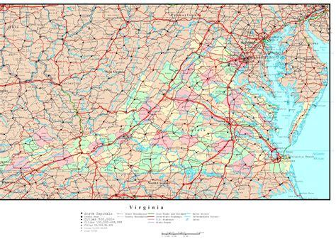 virginia political map
