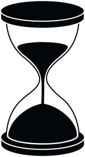 hourglass silhouette  clip art