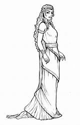 Esther Queen Coloring Pages Medieval Princess Printable Drawing Vashti Lovely Drawings Mordecai sketch template