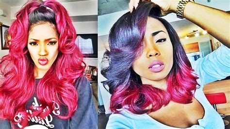 Awesome Ombre Hairstyles For Black Women Youtube