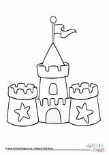 Colouring Sandcastle Sand Castle Coloring Hogwarts Seaside Printable Template Drawing Colour Tsgos Sheets Simple Preschool Elegant Activityvillage Clip Activity Craft sketch template