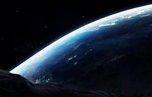 Wallpaper earth, asteroid, surface, planet, meteorite ...
