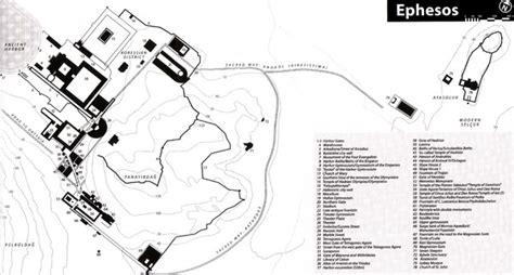 map  ancient ephesos ephesus selcuk turkey mappery