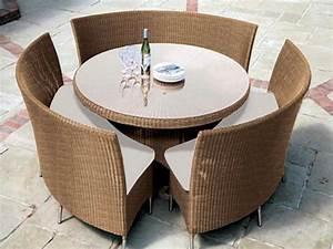 Gartenmöbel Set Runder Tisch : rattan tisch viele tolle beispiele ~ Bigdaddyawards.com Haus und Dekorationen