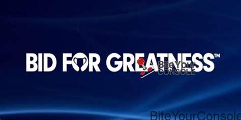 bid asta bid for greatness il nuovo sito di aste della sony
