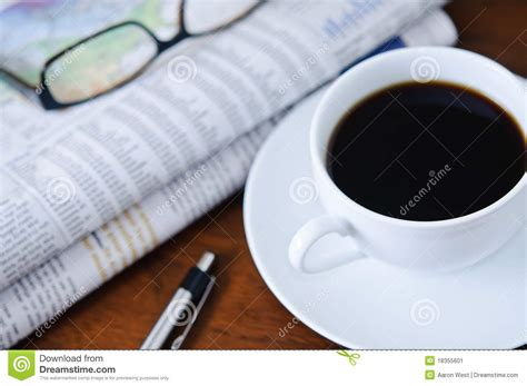 Newspaper, Coffee And Glasses 2 Stock Image Community Coffee Proof Of Purchase Intelligentsia Cfo Hot Incident Cup Quotes Walgreens At Mcdonalds Orlando The Month Club