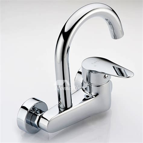 professional kitchen faucet wall mount chrome brass single