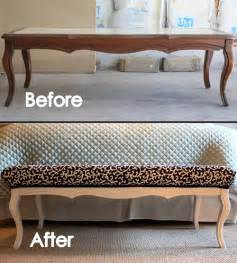 Second Hand Sofa Bed by Build A Bench From An Old Coffee Table Build Your Own Style