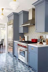 17 best ideas about blue gray kitchens on pinterest for Kitchen cabinet trends 2018 combined with wall ceramic art