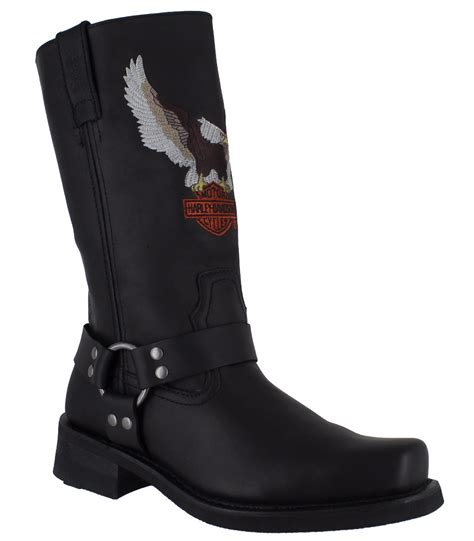 mens black motorcycle riding boots harley davidson darren mens black motorcycle riding eagle