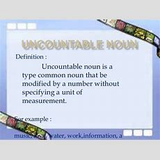 Uncountable Noun Power Point