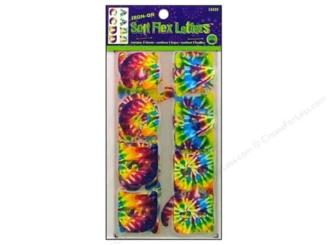 how to make iron on letters soft flex iron on letters by dritz 1 1 4 in tie dye