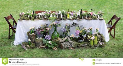 banchetto di nozze decorazione della tavola di banchetto di nozze nel