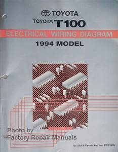 1994 Toyota T100 Truck Electrical Wiring Diagrams Original
