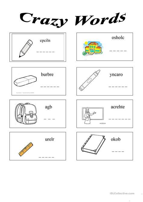 school objects worksheet for kindergarten school things worksheet free esl printable worksheets