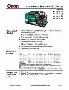 Onan Commercial 4500 Wiring Diagram