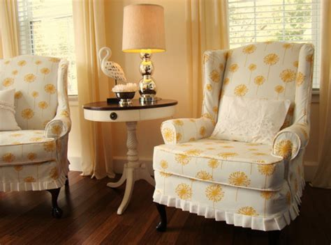 Wingback Chair Slipcover Linen by Wingback Chair Slipcover Linen