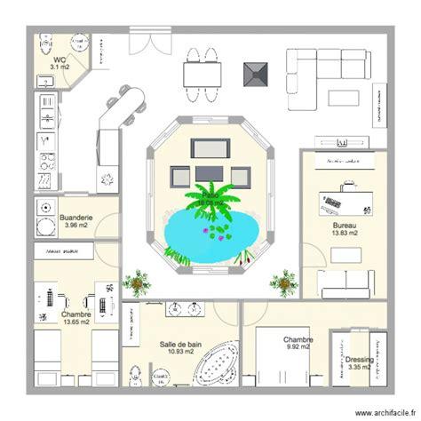 plan maison plain pied 100m2 3 chambres maison plain pied avec patio lvation arrire plan maison